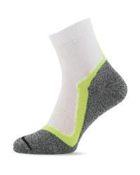 Crane White & Yellow Sport Socks