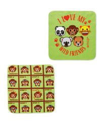 Wild Friends Emoji Cloth 2-Pack