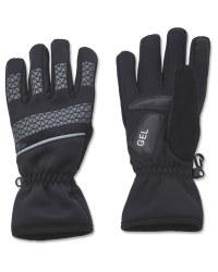 Crane Black Cycling Gloves