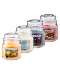 Winter Glass Jar Candle Set