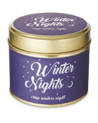 Scentcerity Winter Nights Tin Candle