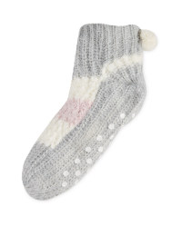 Winter Snuggle Socks Size 4-8 - Grey
