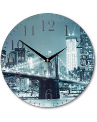 Winter Wall Clock - New York City