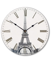 Winter Wall Clock - Paris