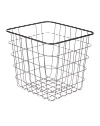 Wire File Storage Basket - Black