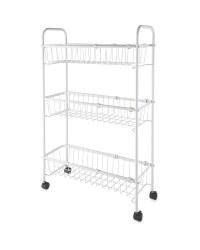 Wire Storage Trolley - White