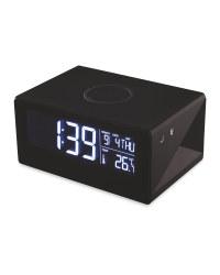 Reka Wireless Charging Clock - Black