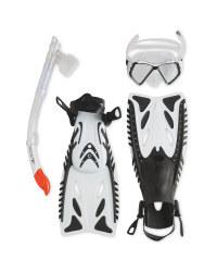Snorkel & Diving Set M-L - White