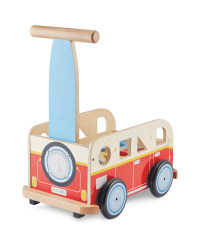 Little Town Wooden Baby Walker - Red