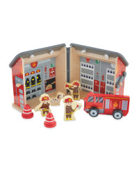 Little Town Carry Along Fire Station