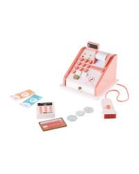 Wooden Cash Register - Pink