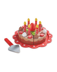 Wooden Chocolate Cake & Accessories