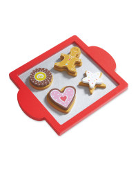 Wooden Cookie Set - Red