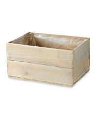 Natural Wooden Crate Planter