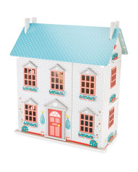 Wooden Dolls House - Blue