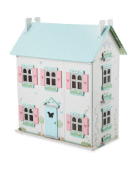 Little Town Wooden Doll's House - Mint/Grey