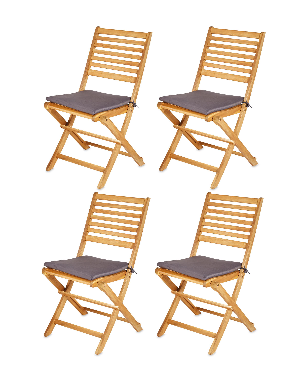 Wooden Garden Chairs 4 Pack