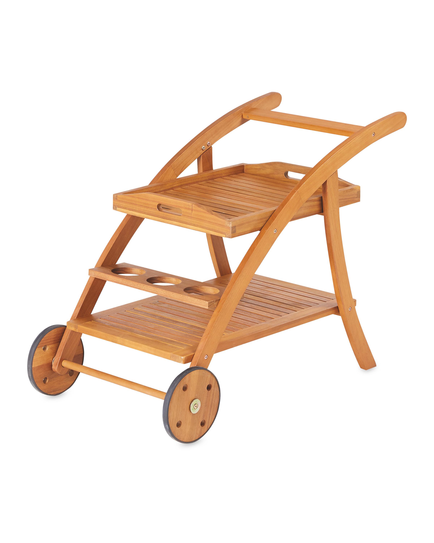 Gardenline Wooden Garden Trolley