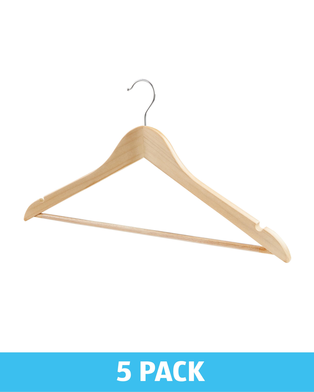 737509ee8254 Wooden Hanger 5 Pack