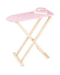 Wooden Ironing Set - Pink