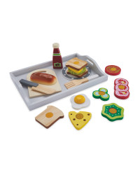 Little Town Wooden Breakfast Tray