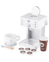 Wooden Kitchen Coffee Machine Set