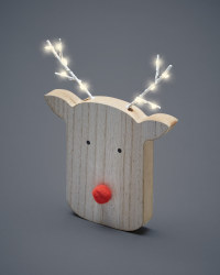 Wooden LED Rudolph