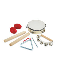 Wooden Tambourine Percussion Set