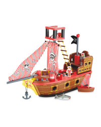Little Town Wooden Pirate Ship