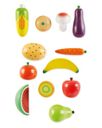 Wooden Play Fruit and Veg Set