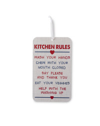 Wooden Rules Signs Twin Pack