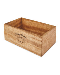 Wooden Storage Box without Divider