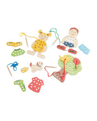 Wooden Toys Threading Game People