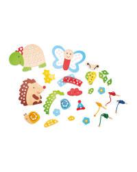 Wooden Toys Threading Game Animals