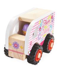 Wooden Vehicle Flower Delivery Van