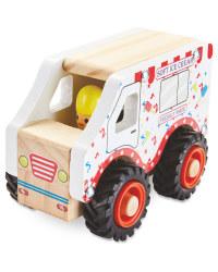 Wooden Vehicle Ice Cream Van