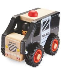 Wooden Vehicle Police Van
