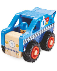 Wooden Vehicle Racing Truck