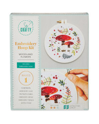 Woodland Flower Embroidery Craft Kit