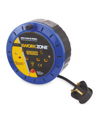 Workzone 5M Cable Reel - Blue