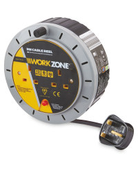 Workzone 5M Cable Reel - Grey