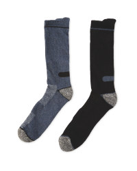 Workwear Socks 2-Pack - Black & Blue