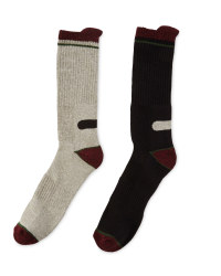 Workwear Socks 2-Pack - Black & Light Grey