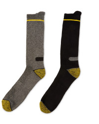 Workwear Socks 2-Pack - Yellow & Black
