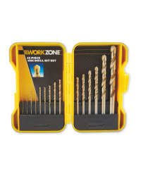 Workzone 15 Piece HHS Drill Bit Set
