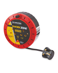 Workzone 5M Cable Reel - Red