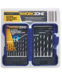 Workzone Brad Point Wood Bit Set