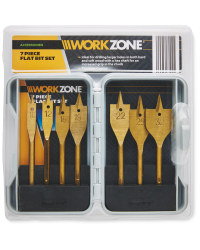 Workzone Flat Bit 7-Piece Set