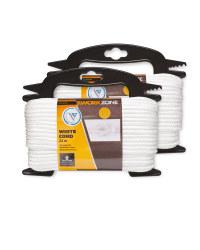 Workzone White Nylon Rope 2 Pack
