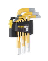 Workzone Yellow Hex Key Set 9pc